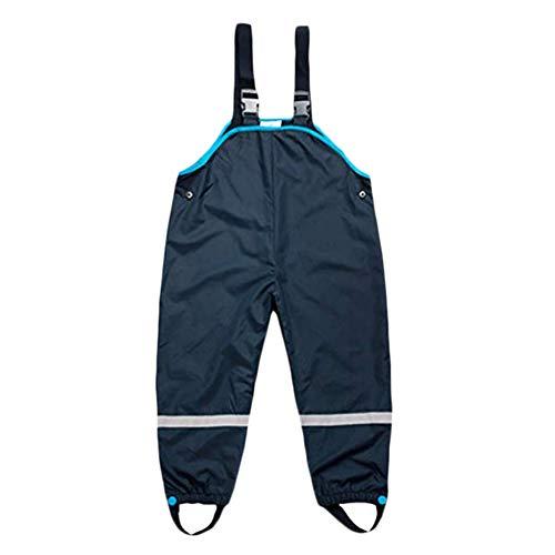 Yissma regenachtige kinderen kunnen hun voeten met waterbestendige schouderbanden en regenbroek instellen.