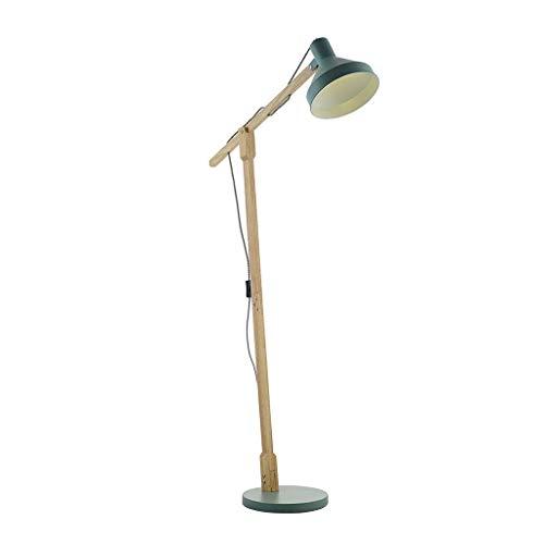 BINGFANG-W Dormitorio Casa, la novedad de suelo Light- Lámpara de pie moderna nórdica Maka Pantalla ángulo ajustable de la lámpara de madera de cuerpo antideslizante base de hierro E27 Fuente de luz L