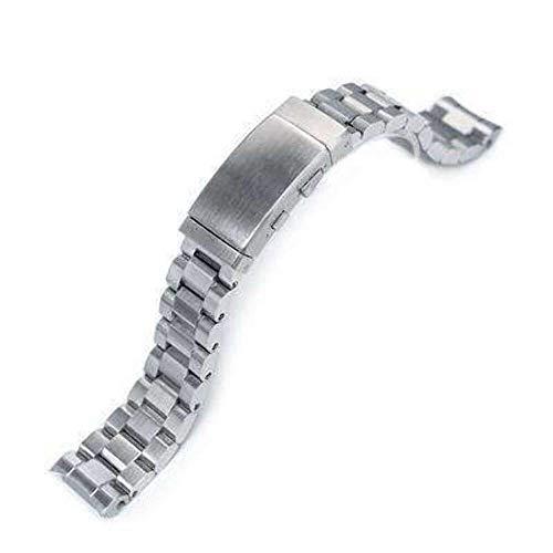 Strapcode 20mm Hexad Oyster 316L Correa de Reloj de Acero Inoxidable para Seiko MM300 Prospex Marinemaster SBDX001, Traje de Neopreno Hebilla de trinquete
