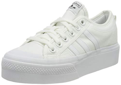 adidas Nizza Platform W, Scarpe da Ginnastica Donna, Ftwr White/Ftwr White/Ftwr White, 36 2/3 EU