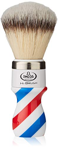 """Omega 46806 - Pennello da Barba in Fibra""""Hi-Brush"""", Blu, Fruttata"""