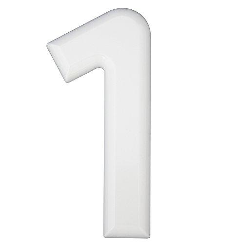 Hausnummern 1 Kunststoff weiß 160mm 1 St.
