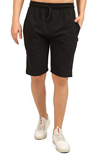 Comeor, pantaloncini sportivi da uomo estivi, in cotone, per jogging, corsa, allenamento, tennis, Nero , M