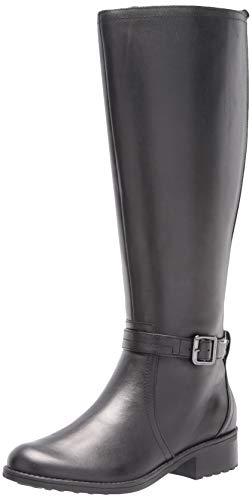 Easy Spirit Women's Wide Calf Boot Fashion, Black, 5.5