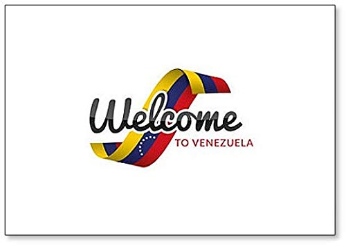 Kühlschrankmagnet, Motiv: Welcome to Venezuela mit Flagge
