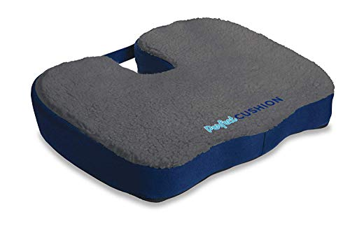 Perfect Cushion Charcoal Infused Memory Foam & Gel Seat; Quality & Therapeutic Comfort Designed to Cradle & Support Your Body; Helps to Relieve Back Hip & Tailbone Pain. Built in Carry Handle