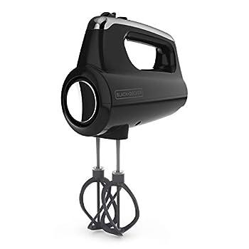 BLACK+DECKER MX600B Helix Performance Premium 5-Speed Hand Mixer 5 Attachments + Case Black