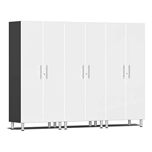 Ulti-MATE UG22630W 3-Piece Tall Garage Cabinet Kit in Starfire White Metallic
