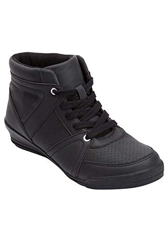 Comfortview Women's Wide Width The Honey Sneaker - 9 W, Black