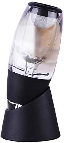 QZMX Decantador Aerador de vinos |Vino acrílico, vullo y Filtro con Soporte de exhibición, diseño Elegante, Minimalista Decantador de Vino de Cristal