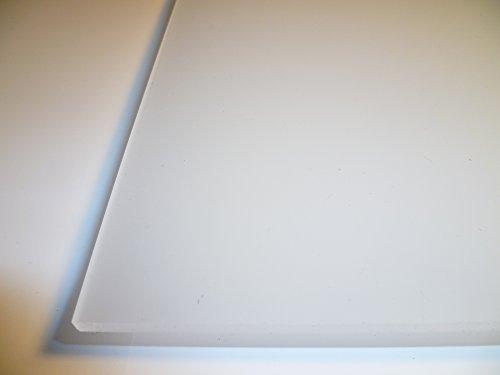 B&T Metall PMMA Acrylglas Opal Weiß glatt 4,0 mm stark Milchglas Lichtdurchlässigkeit 78% UV beständig beidseitig foliert im Zuschnitt Größe 10 x 60 cm (100 x 600 mm)