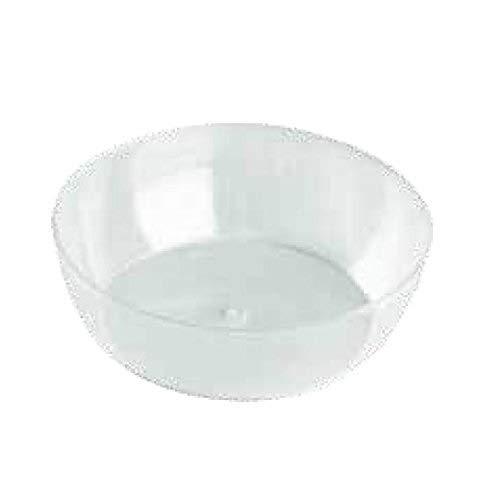 Lot de 50 bols transparents 220 ml cristal pour fête d'apéritif Happy Hour Food Dressert, gâteaux, mouchettes, semi-froids, hauteur 3,5 cm