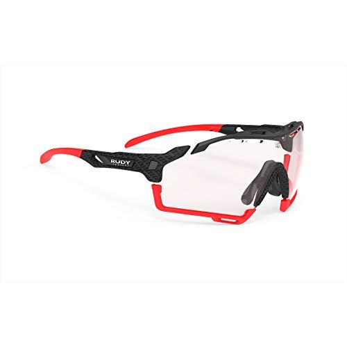Rudy Project Cutline - Occhiali da ciclismo in carbonio/impactX 2, colore: Rosso