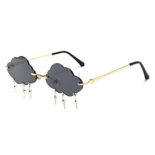 Gafas de Sol Gafas De Sol Vintage Sin Montura para Mujer, Gafas con Montura Estilo Nubes para Mujer, Gafas Retro Vintage para Mujer, Unisex No1