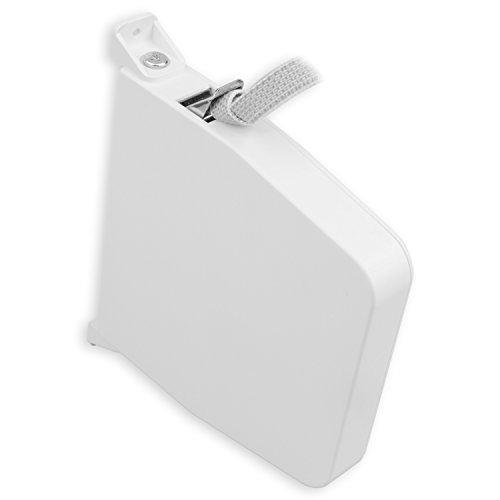 DIWARO® Mini-Aufschraub-Gurtwickler | mit integriertem Gurtgetriebe | schwenkbar | für 9 m Gurt | weiß