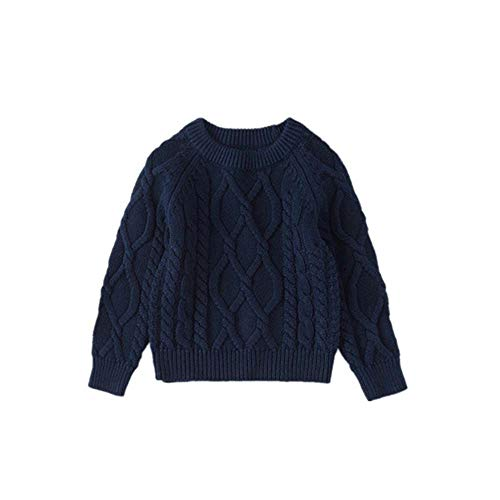 Guy Eugendssg 12M to 7 Years Baby & Kids Boys Girls Cable-Knit Pullover Sweaters Winter Knitted Sweaters Blue 6