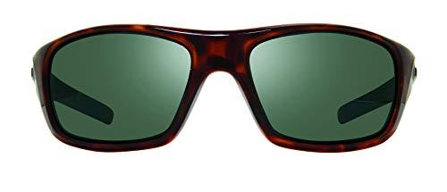 Revo Gafas de sol polarizadas Jasper marco envolvente 61 mm, marco tortuga, SG50