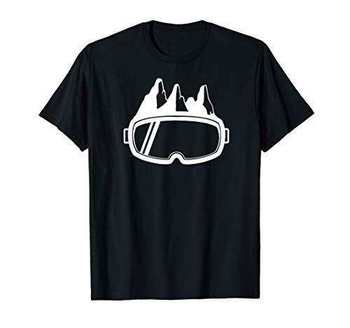 Ski Goggles & Mountains - Apres Ski Skier Ski Vacation Gift T-Shirt
