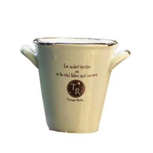 Cadeaux Creative / Décor Jardinage Tasse Faïence Planteur Flower Pot 4.9 * 3.7 \