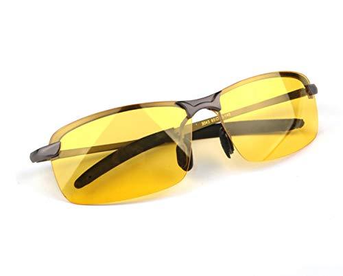XUMIN - Gafas de Sol para conducción Nocturna, Lentes Amarillas, antideslumbrantes, para conducción Nocturna, 1 Unidad