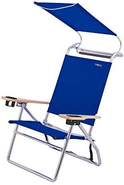 Copa Big Tycoon 4 Position Portable Lightweight Folding Aluminum Beach Lounge Chair with Canopy product image
