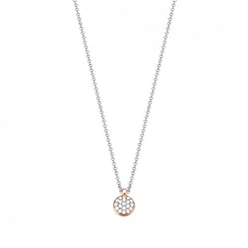 Esprit Damen Halskette 925 Sterling Silber Zirkonia charming grace 42 cm weiß ESNL93184A420