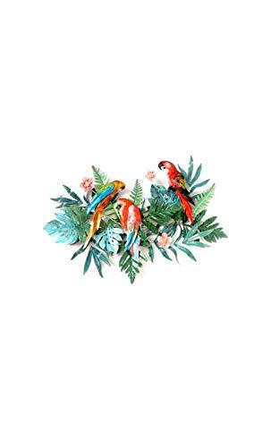 Socadis – Trio für Papageien, Dschungel, bunt, Metall