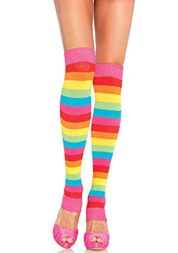 Leg Avenue Costume Accessories's Rainbow Pride Festival Thigh Highs Socks, Multicolour, One Size