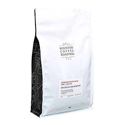 1kg Decaf Coffee – 100% Arabica - Chemical Free Sparkling Water Decaffeinated - Freshly Roasted Whole Bean Coffee Beans – Espresso Roast - Roasted in Yorkshire
