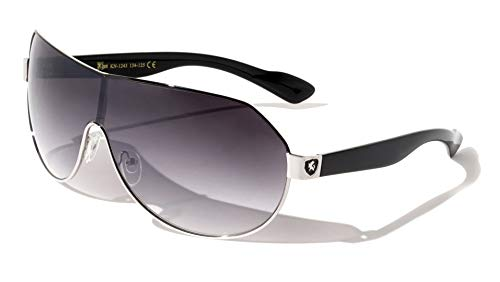 Men's Flat Top Sport Shied Aviator Sunglasses - Multiple Colors