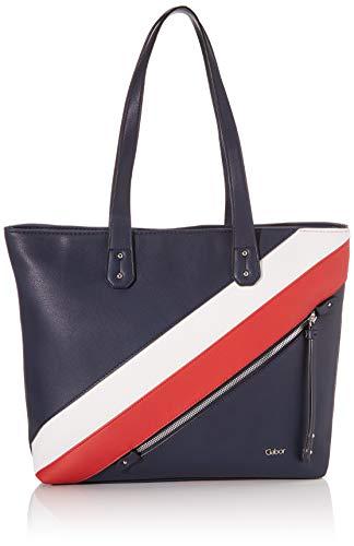 Gabor Shopper Damen, Blau, Minari, 41x14x31 cm, Handtasche groß, Umhängetasche, maritim