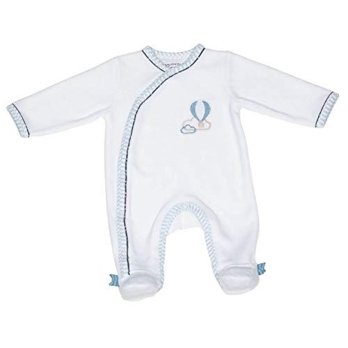 Pyjama bébé blanc montgolfière 1 mois Lazare - Sauthon