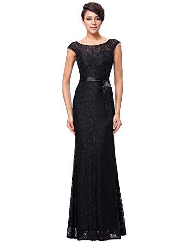 Damen Ballkleid Abiballkleid Swing Kleid Abendkleid 44 KK203-1