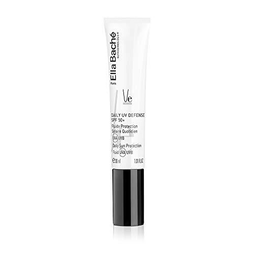 Fluide Protection Solaire Quotidien UVA UVB SPF50+ - très haute protection visage, sans parfum, texture ultra légère, effet mat et résistante à l'eau - Made in France - 30ml