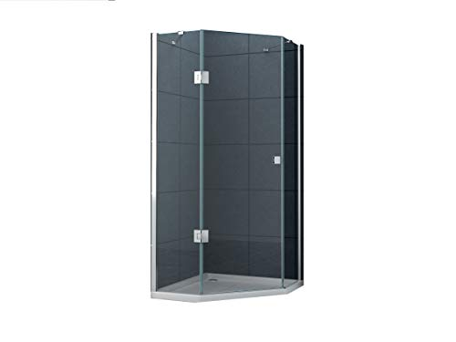 Fünfeck-Duschkabine Pentalo 90 x 90 x 195 cm ohne Duschtasse/Dusche Duschwand