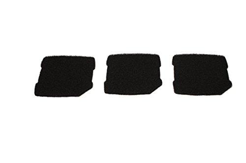LTWHOME Compatible Activé Carboné Mousseux Filtration Tapis Convient pour Eheim Professionnel Pro 3 250, 250T, 350, 350T, 600/ Ultra G Pro 3 Filtre 2071,2073,2075 Et Eheim Pro 3e 350/2074 (Paquet de 3)