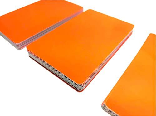 Premium Plastikkarten | PVC Karten Orange | 5-500 Stück | blanko, Kartendrucker, NEU! (100)