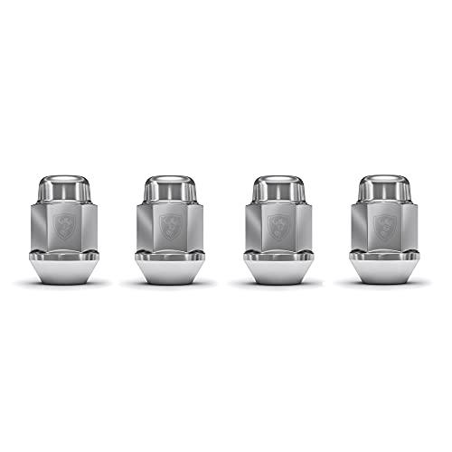White Knight 1709S-4 Chrome M14x1.50 Bulge Acorn Lug Nut, 4 Pack