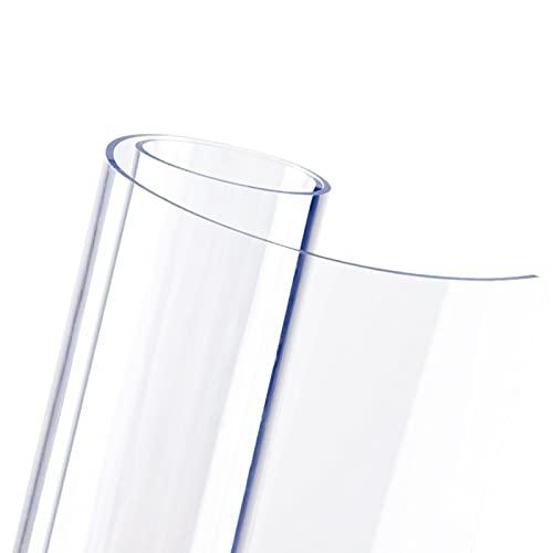 ZXXL Manteles Transparente Plástico Mantel de Plástico Transparente de PVC, Almohadilla Protectora Rectangular Antideslizante para Mesa para Mesa Auxiliar/Mesita de Noche/Tocador, 2 mm de Espesor