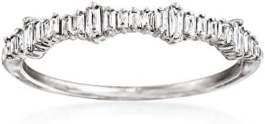 Ross Simons 0 20 ct t w Baguette Diamond Ring in 14kt White Gold Size 10 product image