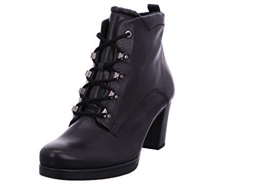 Gabor Damen Stiefeletten, Frauen Schnürstiefeletten,Comfort-Mehrweite, halbstiefel schnürboots Bootie,schwarz (Flausch),35 EU / 2.5 UK