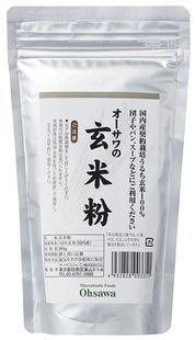 オーサワジャパン 国内産契約栽培玄米使用 玄米粉 300g ×6セット