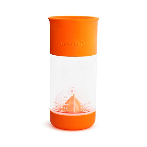 Munchkin Miracle 360 Fruit Infuser Sippy Cup, 14 Ounce, Orange