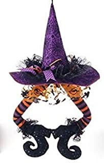 Halloween Witch HAT with Legs RAZ Imports Halloween Decorations (Black HAT Purple Boots)