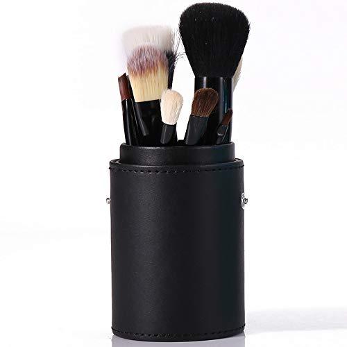 Pinceau De Maquillage Professionnel Set 12 Tube Brosse Débutant Ensemble Complet De Maquillage Maquillage Brosse Baril Brosse Outil Combinaison Noir