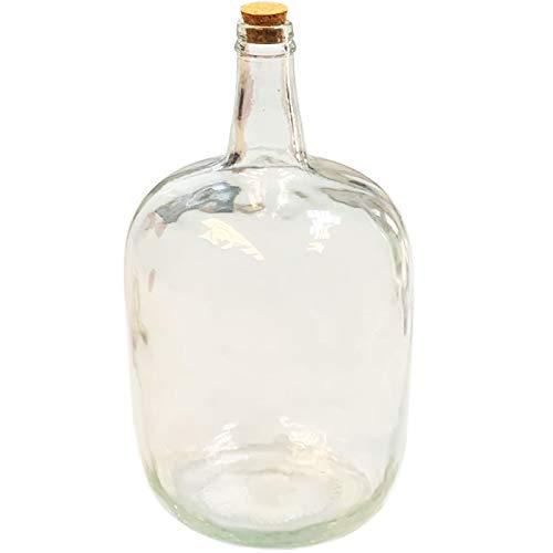 Acan - Garrafa Vidrio 8 litros con tapón de Corcho, Botella Cristal,...