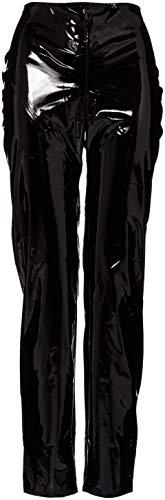Eer Dames Legging in PVC Zwart Maat UK 16 (XL), PVC Kleding, Vinyl Kleding, Glanzende Kleding