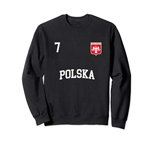 Poland Sweatshirt 7 Polish Flag Soccer Football Shirt
