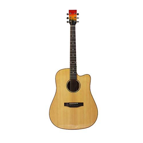 DEAR-JY Guitarra Folklórica, Guitarra Clásica 41 Pulgadas Abeto Superficie De Arce Sola Luz Guitarra Popular Principiante Guitarra Acústica Adecuada para Principiantes Profesionales