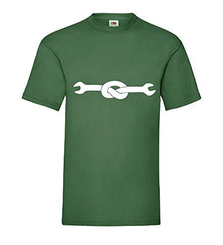 Maulschlüssel mit Knoten Männer T-Shirt Flaschengrün XXL - shirt84.de